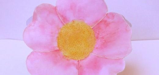 Big  watercolored flower card